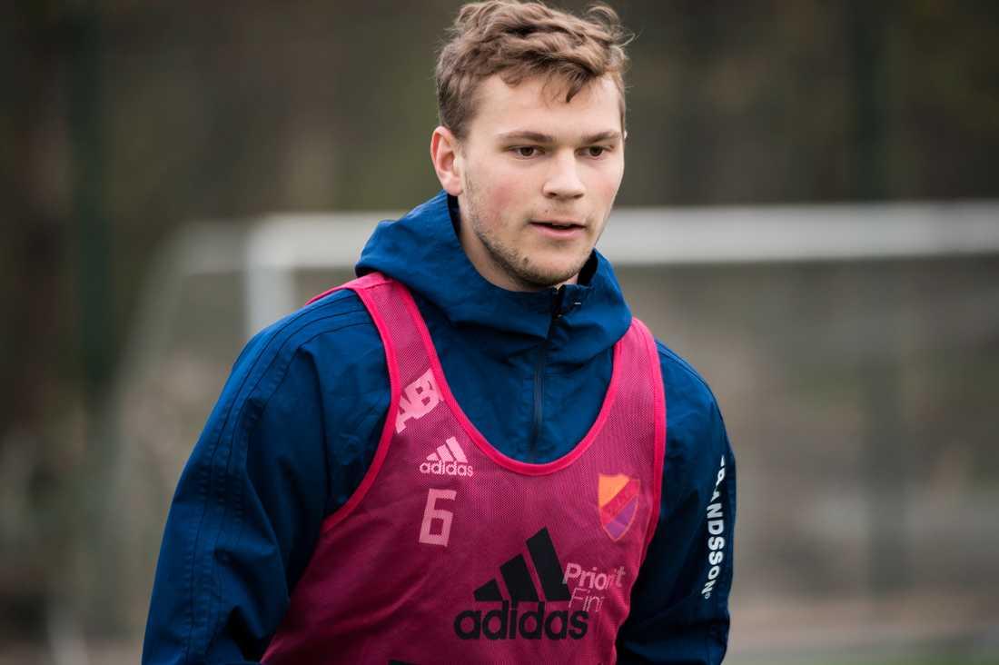 Jesper Karlström på Djurgårdens träning under onsdagen.