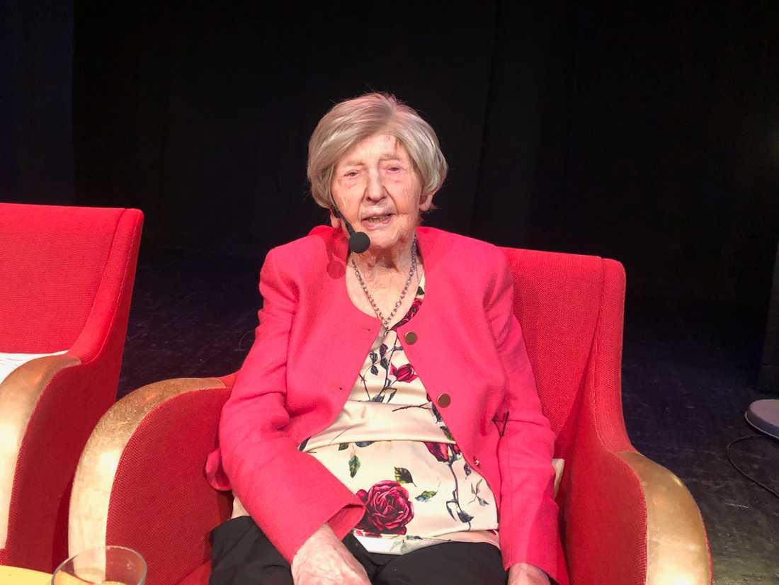 Dagny Carlsson hade två framträdanden på scenen.