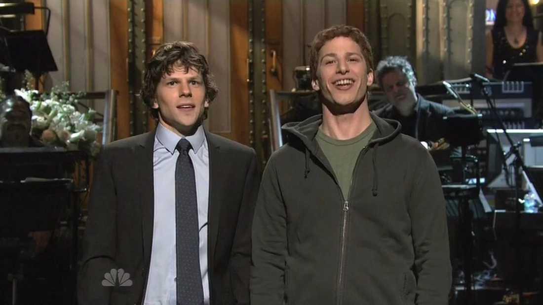 Jesse Eisenberg och Andy Samberg.