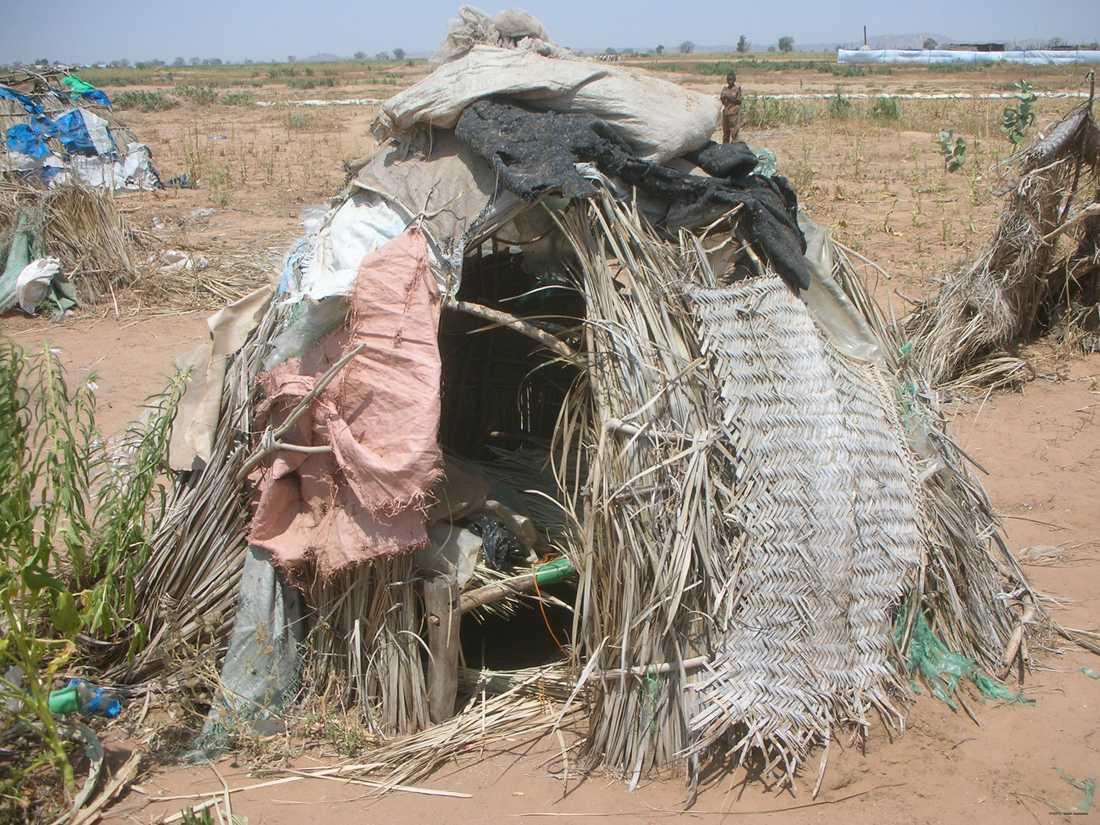 En bild från Kalmalägret tagen år 2007. Flera flyktingar lever under extremt enkla förhållanden i lägret.