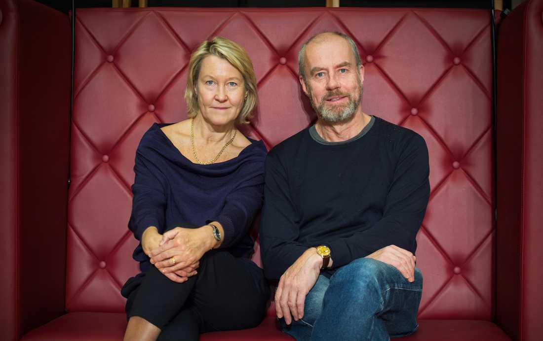 """Cecilia Nilsson och Lennart Jähkel spelar huvudrollerna i """"Århundradets kärlekskrig"""" ."""