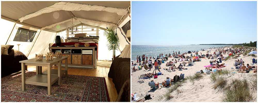 """Nu lanserar Böda Sand Camping det nya konceptet """"champing"""" - charter och camping i ett."""