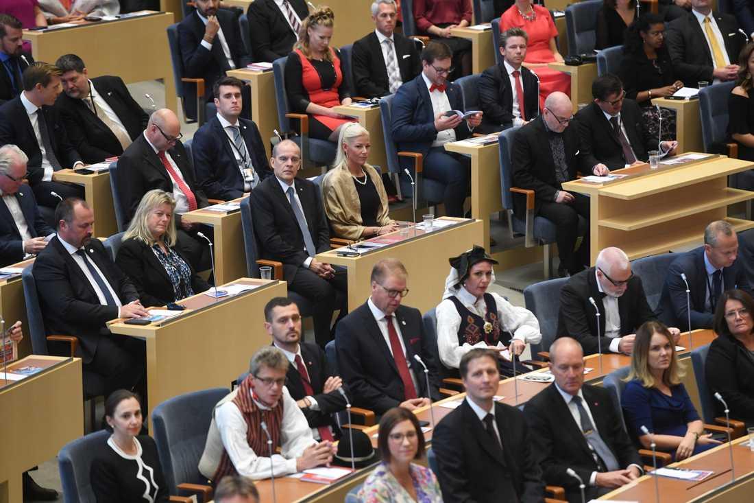 Sverige har EU:s mest jämställda parlament och ligger även i topp när det gäller jämställdheten bland ministrar. Arkivbild.