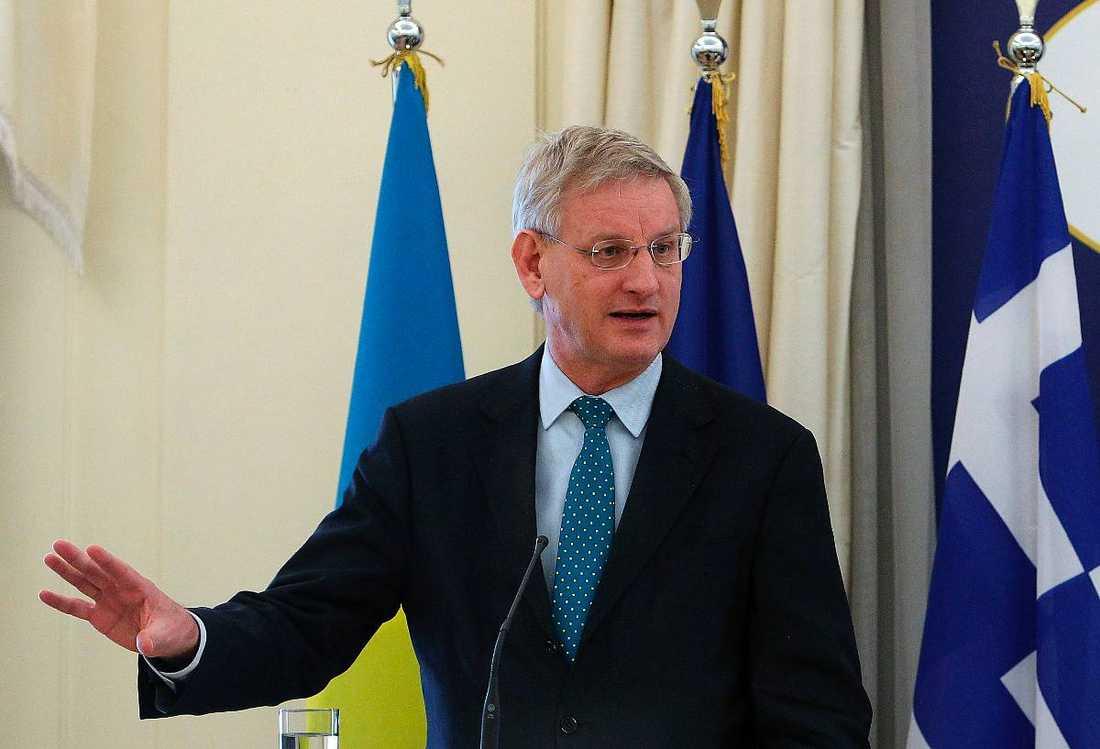 Utrikesminister Carl Bildt, Moderaterna.