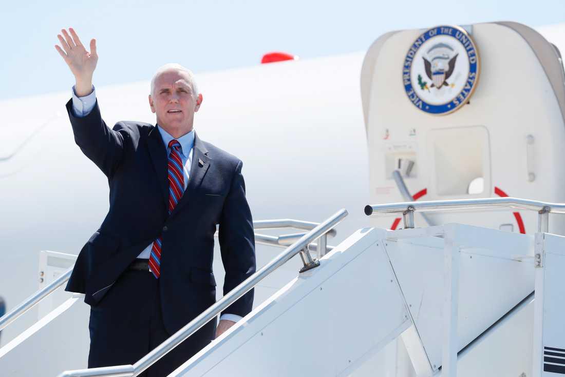USA:s vicepresident Mike Pence, bild från i fredags.