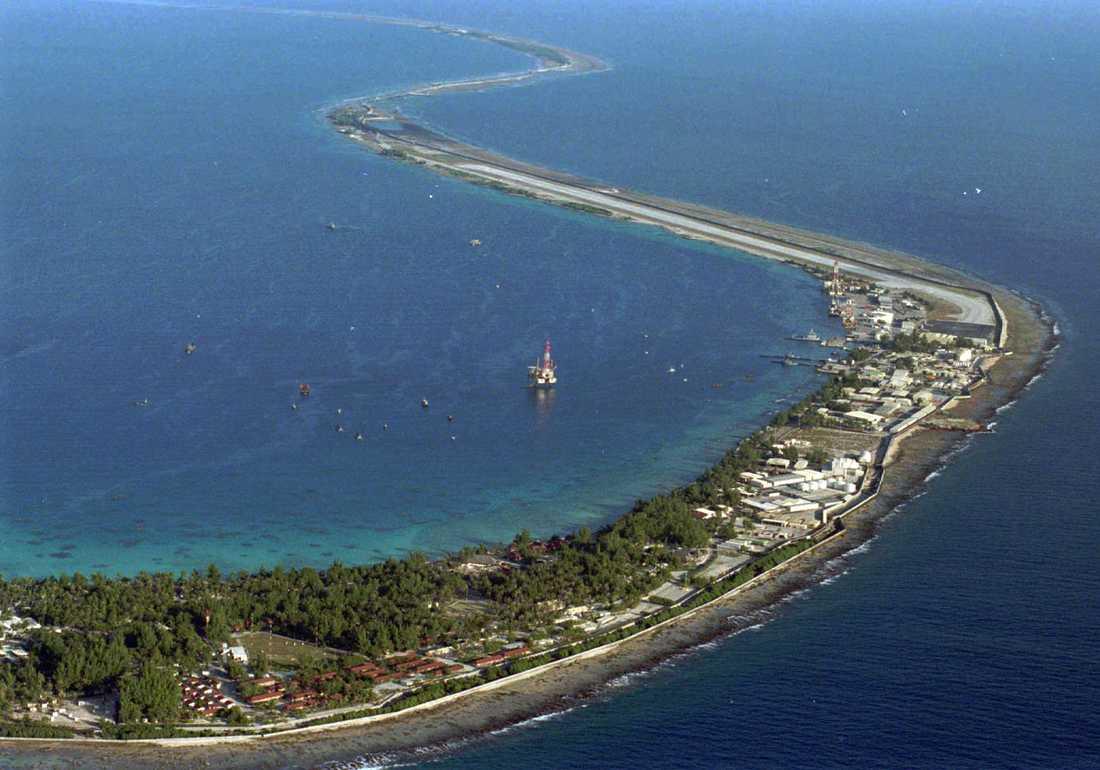 Mururoa, sydöster om Tahiti i Stilla havet. Arkivbild.