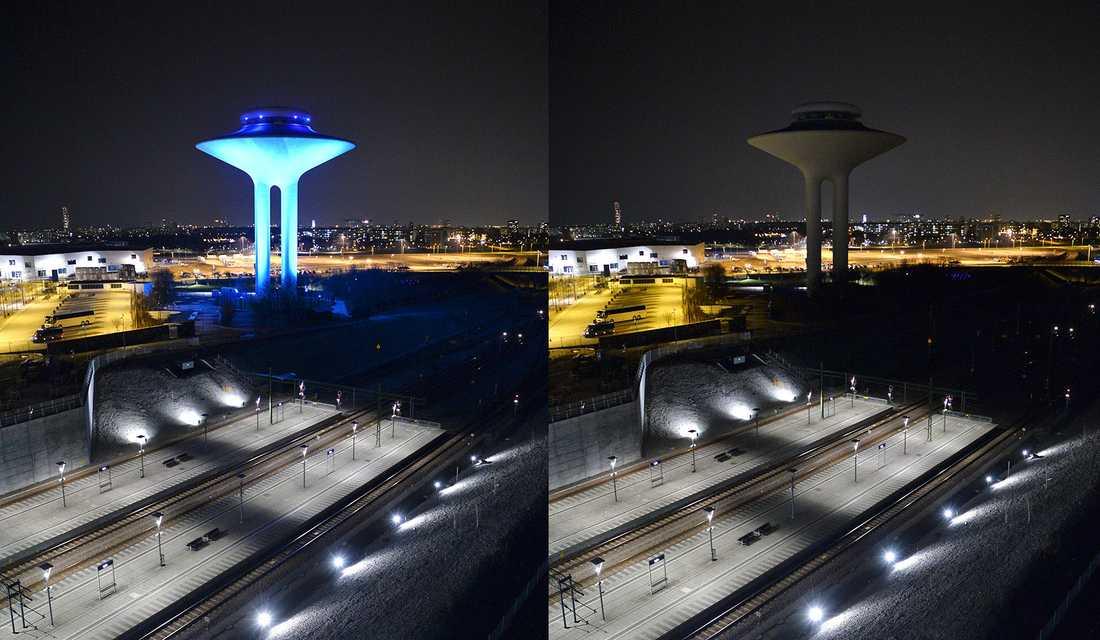 Hyllie vattentorn i Malmö.