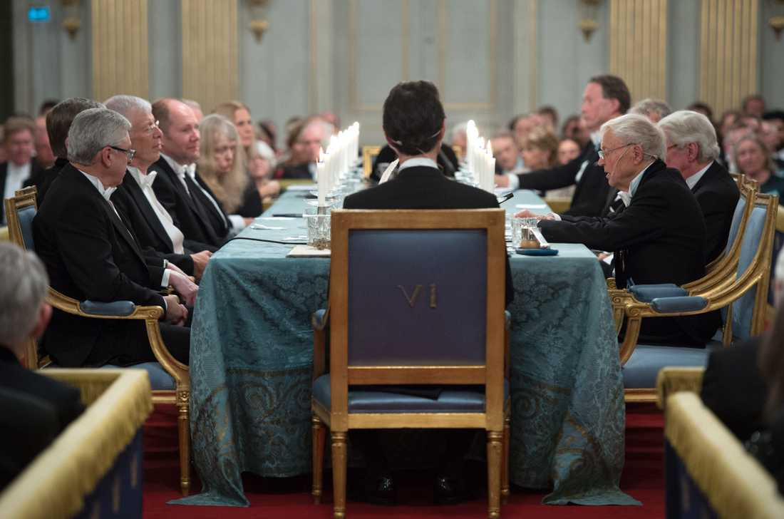 Den 20 december varje år avslutar Svenska Akademien sitt arbetsår med en högtidssammankomst. Arkivbild.