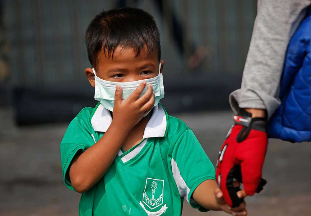 Barn är extra utsatta för luftföroreningar.