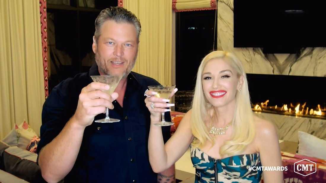 Blake Shelton och Gwen Stefani.
