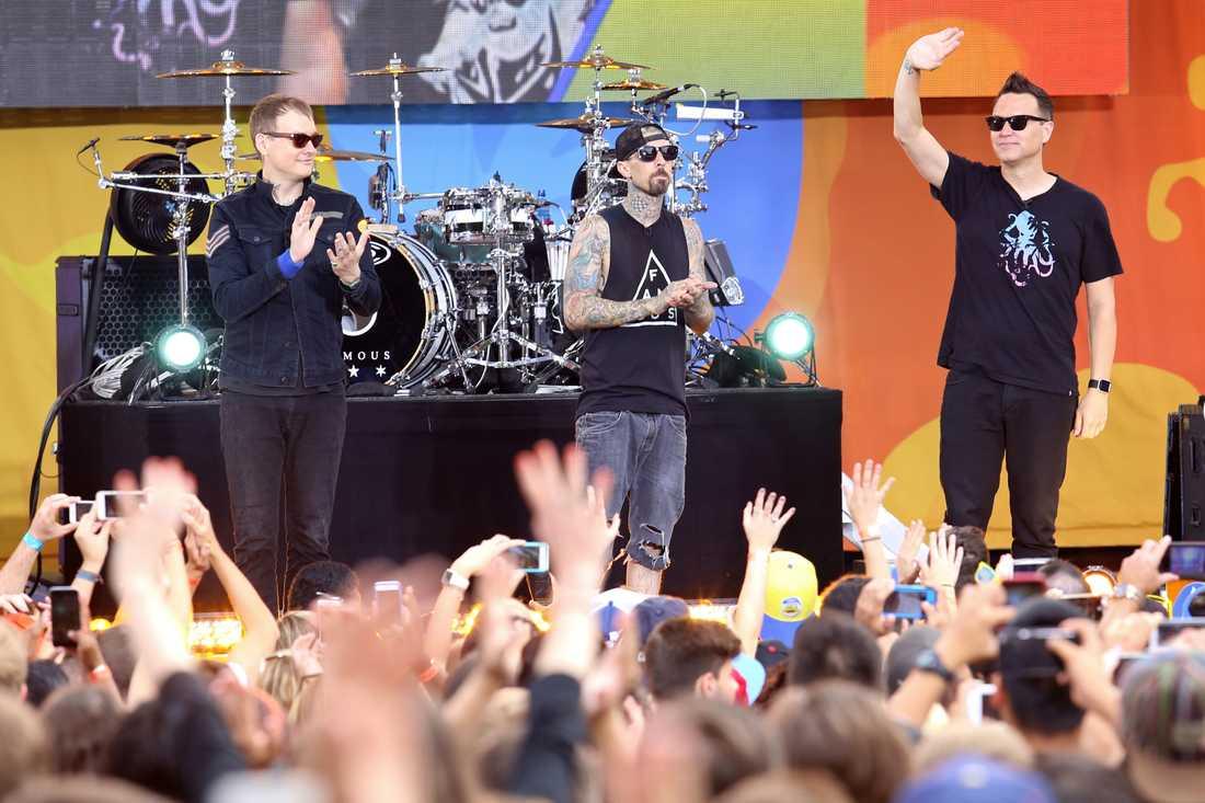 """Bandet i somras när de uppträdde på """"Good Morning America""""."""