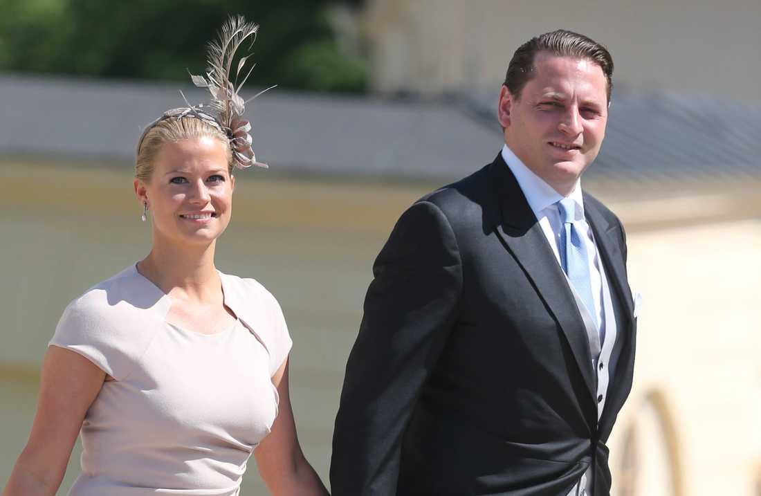 Natalie Werner blir fadder till prinsessan Adrienne. Här med sin man Dag Werner.