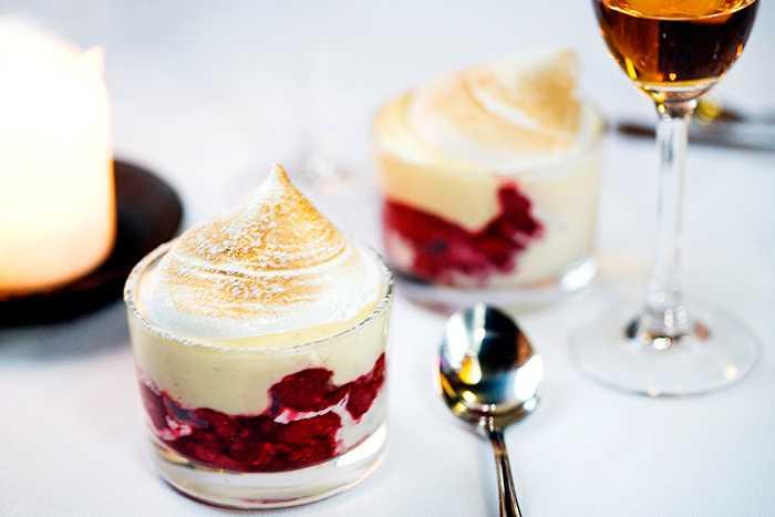 En läcker dessert till nyårsmenyn.
