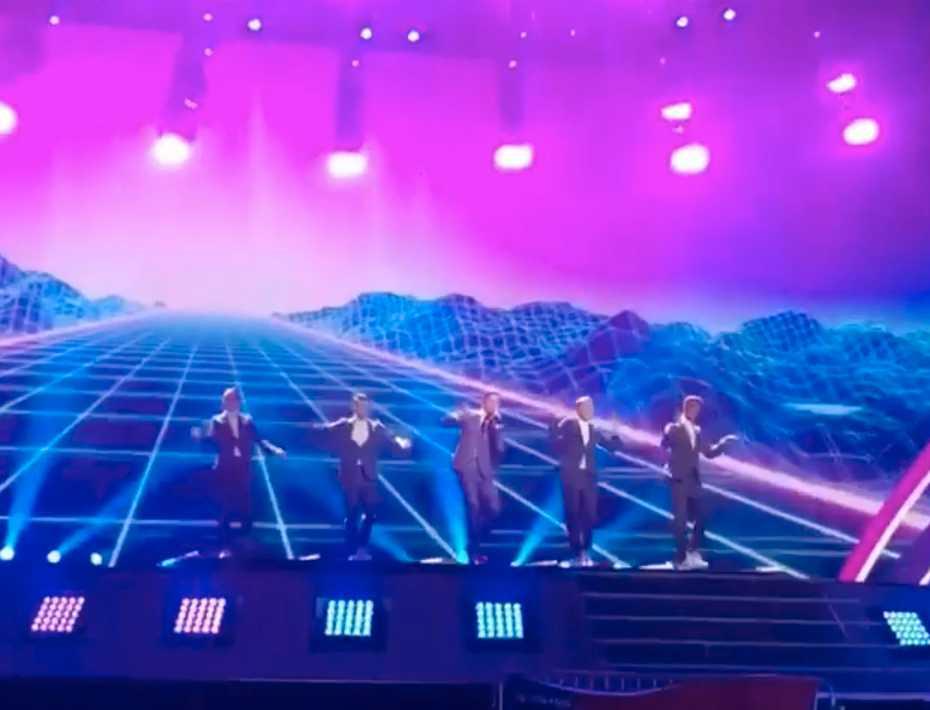 Robin Bengtsson och superväggen i Eurovision song contest.