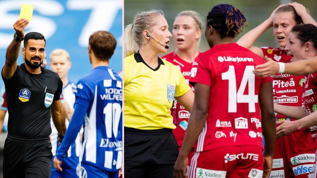 Domarna i herrallsvenskan får 9 000 kronor per match mot damallsvenskans 2 500