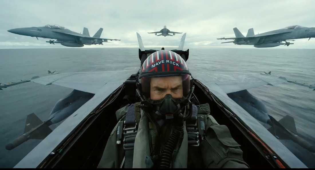 "Tom Cruise i ""Top gun 2""."
