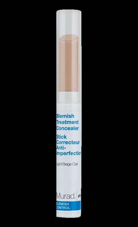 """""""Blemish control treatment concealer"""", Murad Fast concealer i stickform med rengörande salicylsyra, sebumreglerande retinol och stärkande grönt te behandlar blemmor samtidigt som utslag och rödhet kamoufleras. Att läkningen påskyndas och pinan förkortas är verkligen guld värt."""