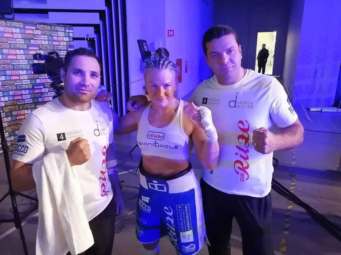 Maria Lindberg med sitt team.