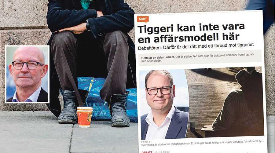 I vårt svenska samhälle är vi fria att fatta egna beslut. Så jag kan ju faktiskt gå förbi den som tigger utan att ge något, skriver Bertil Rylner.