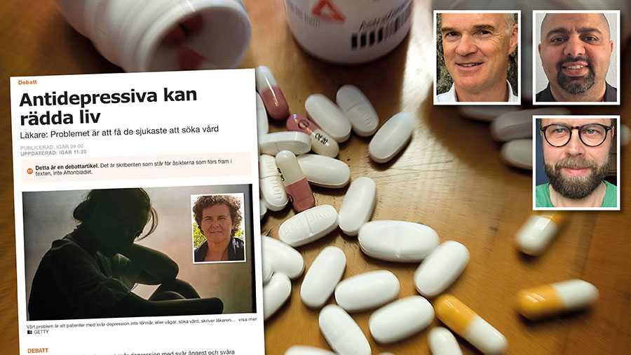 Över en miljon svenskar fick antidepressiva år 2018. Utifrån det svaga vetenskapliga stödet för effekten och de svåra biverkningarna är det en extrem siffra, skriver debattörerna.