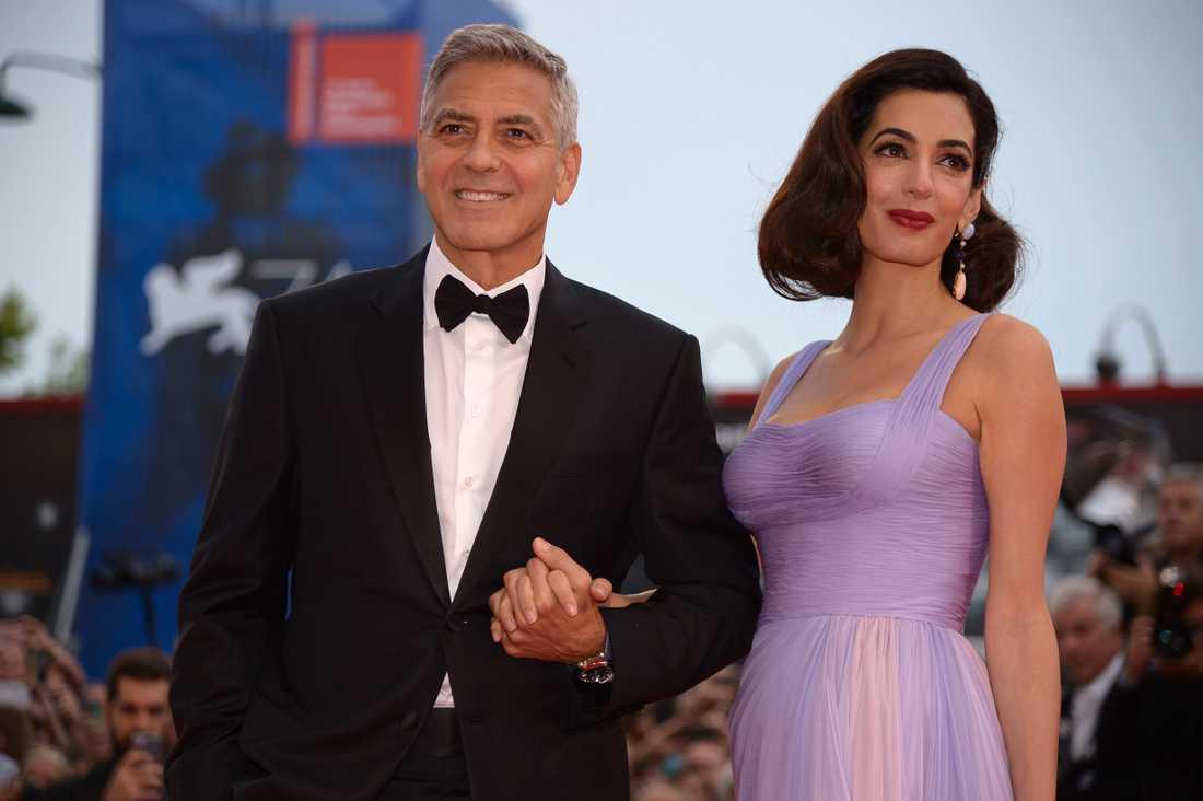 George Clooney och Amal Clooney.