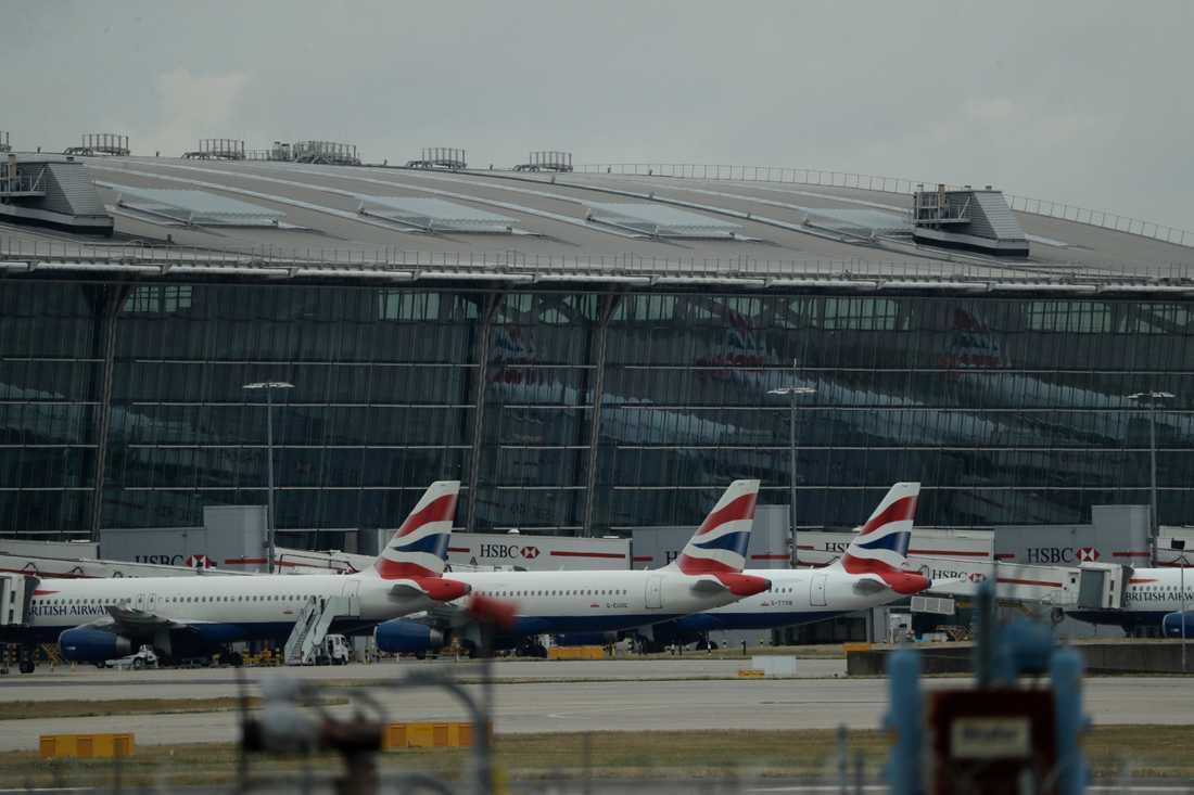 Storflygplatsen Heathrow drabbades av tekniska problem under söndagskvällen. Arkivbild