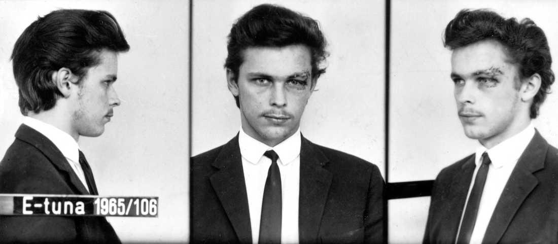 Polisens bild av Clark Olofsson från ett tidigt gripande.