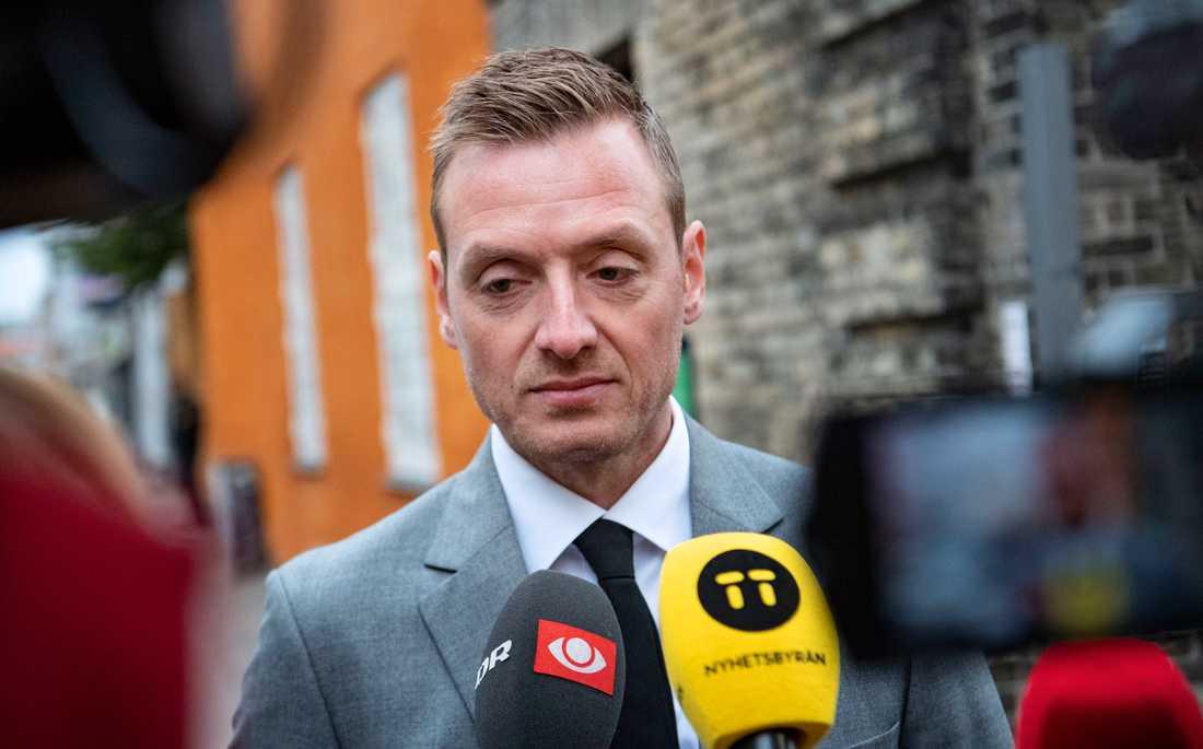 Åklagaren Kristian Kirk Petersen anländer till den danska hovrätten Østre landsret i Köpenhamn.