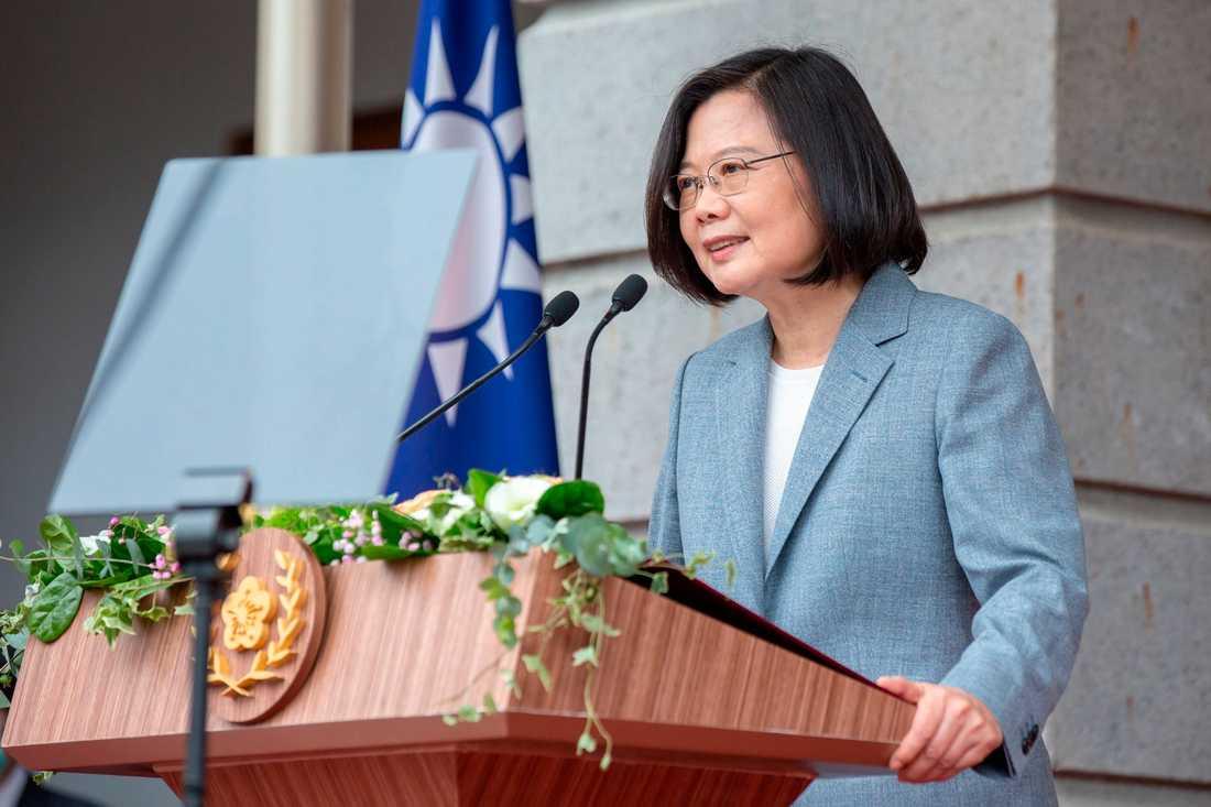 Tsai Ing-Wen under sitt installationstal.