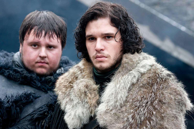 John Bradley som Samwell Tarly och Kit Harrington som Jon Snow.