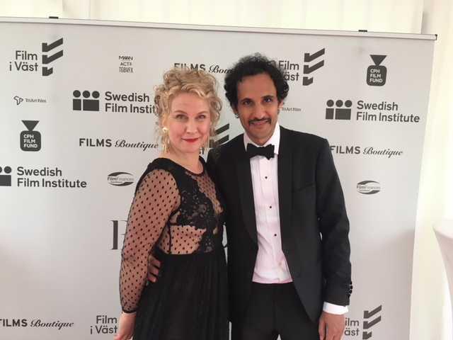 Eva Melander och Ali Abbasi är glada efter premiären