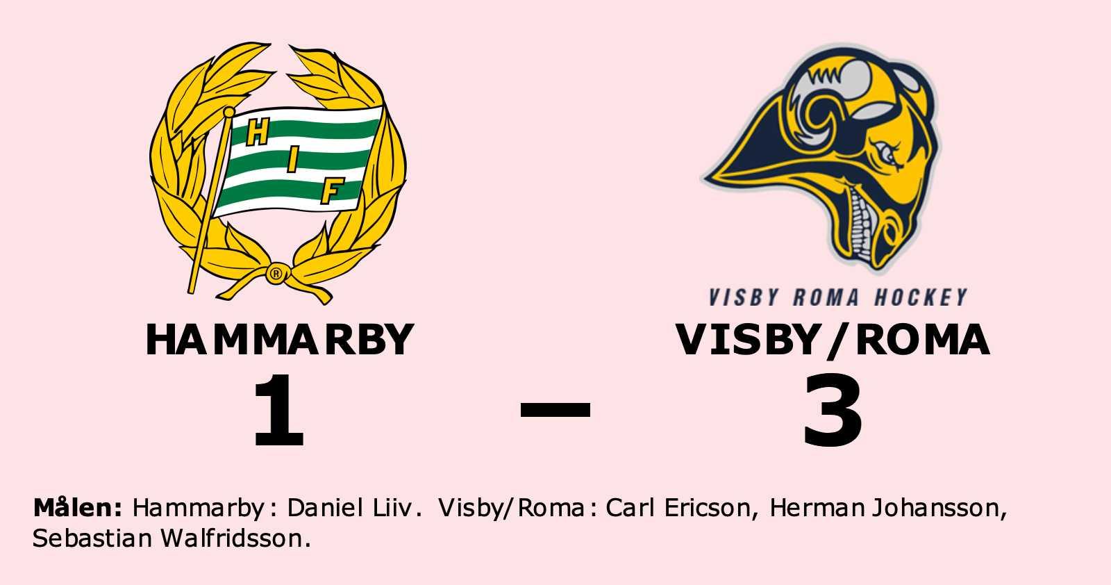 Formstarkt Visby/Roma tog ännu en seger