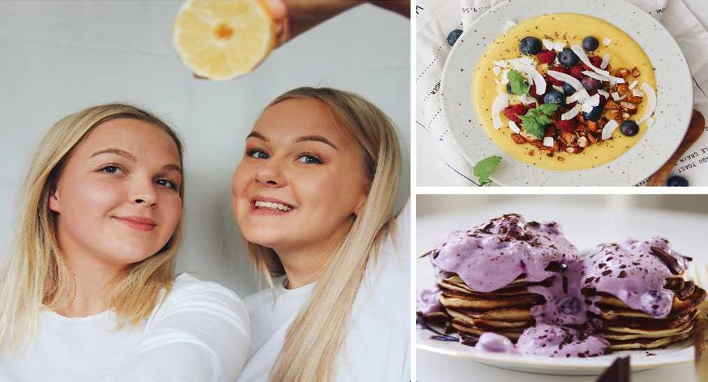 """Ronja Andegras, 22, och Amelie Näslund, 24 från Umeå vurmar för frukosten: """"Det är din stund!"""""""