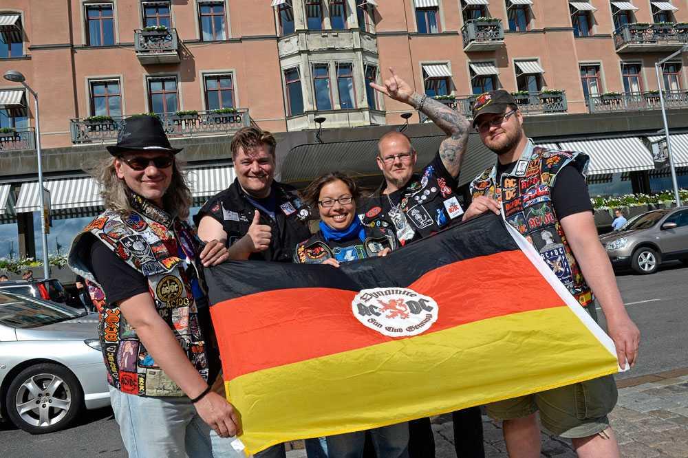 Från vänster: Sven från Karlsruhe, Henk från Bergen, Kaori från Karlsruhe, Frode från Oslo och Andre från Hannover.