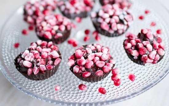 Chokladgodis med granatäpple