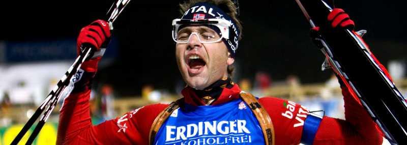 Ole Einar Björndalen tog sitt tredje guld i VM.