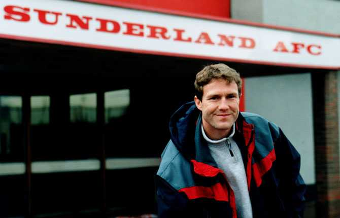 Gamle landslagshjälten Janne Eriksson i Sunderland 1997.