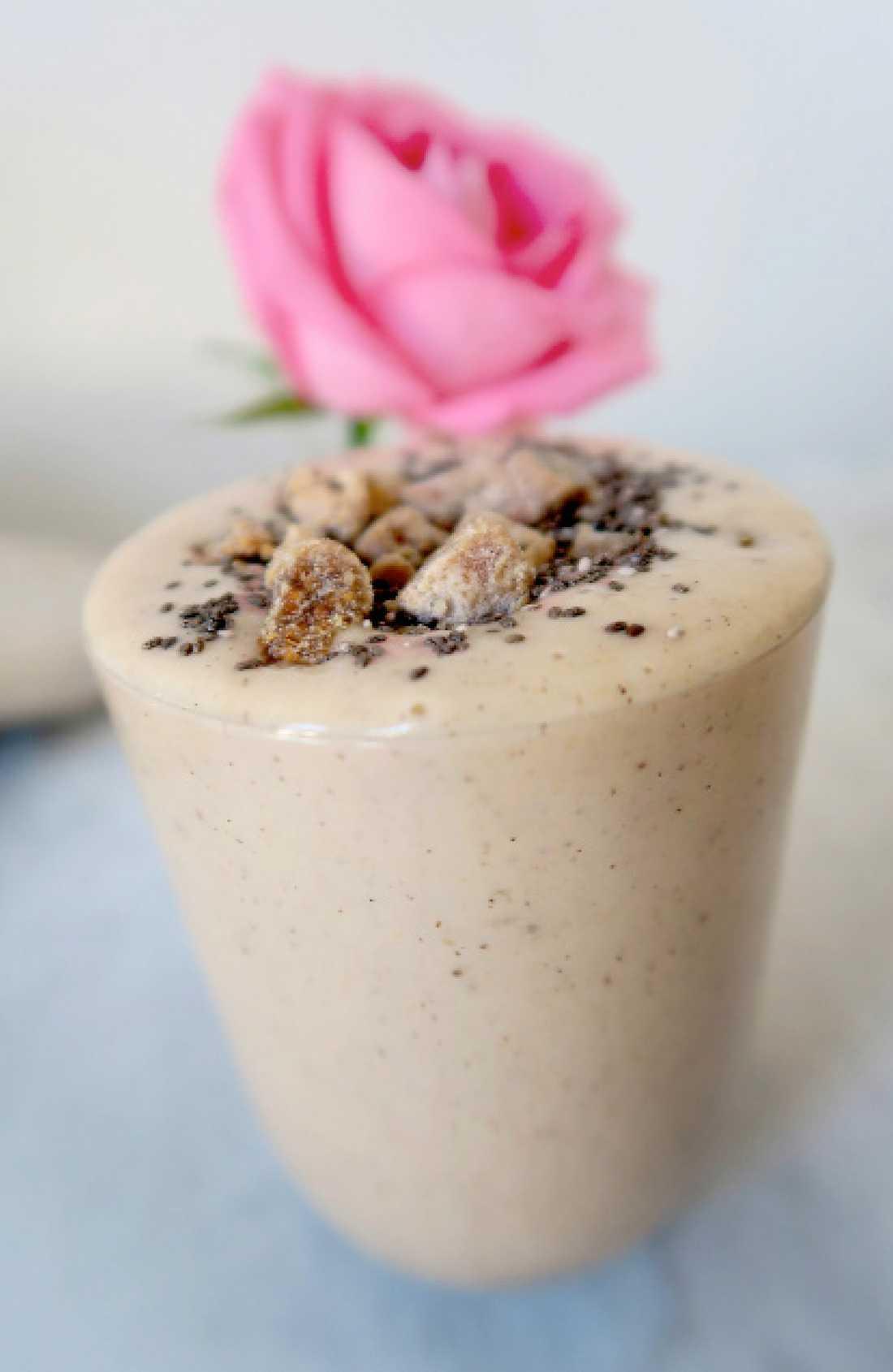 nyttig smoothie med jordnötssmör