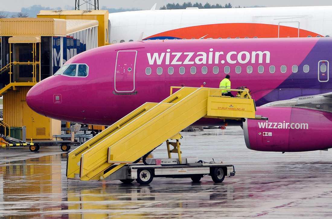 Wizz Air-planet tvingades nödlanda på Sturup. OBS! Planet på bilden är inte det aktuella flygplanet.