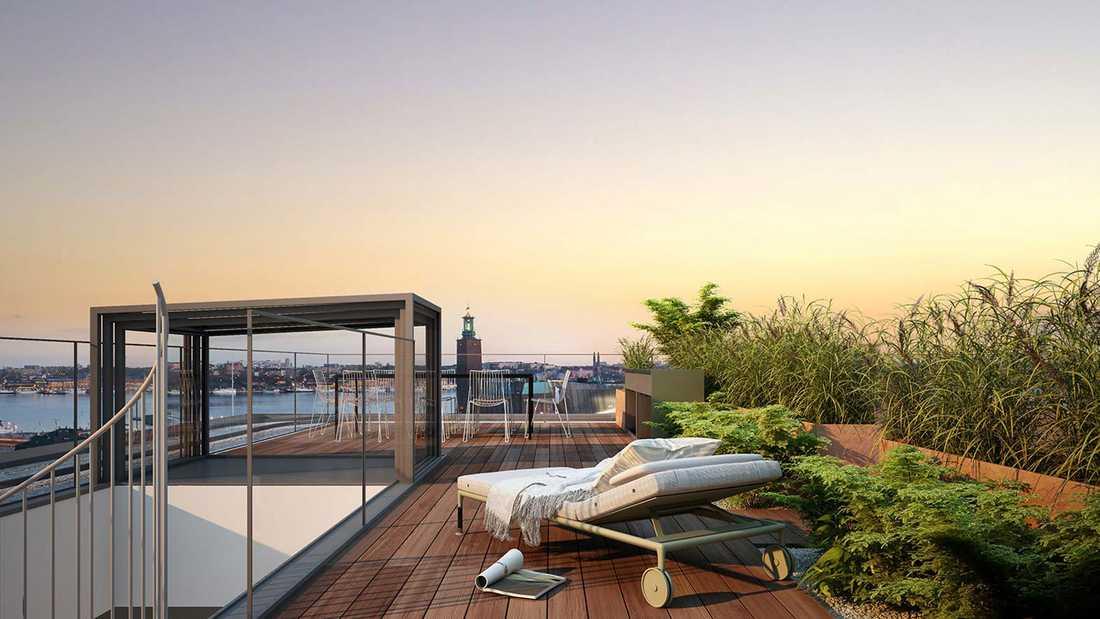 Utsikten från 104,5 miljoners-lägenheten.