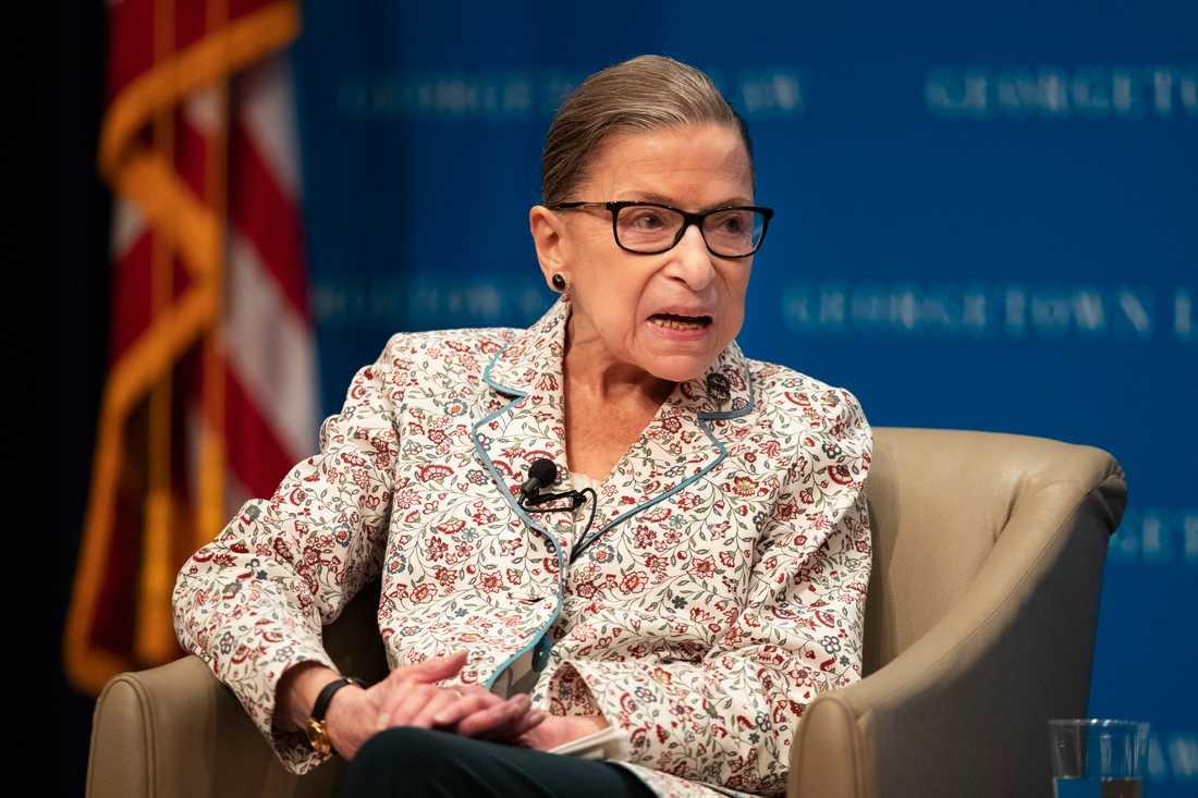 Den amerikanska HD-domaren Ruth Bader Ginsburg. Arkivbild.