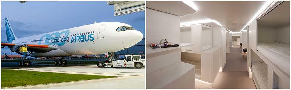 Airbus flygplanstyp A330 kommer i framtiden att utrustas med relaxavdelning och sängar i lastutrymmet.