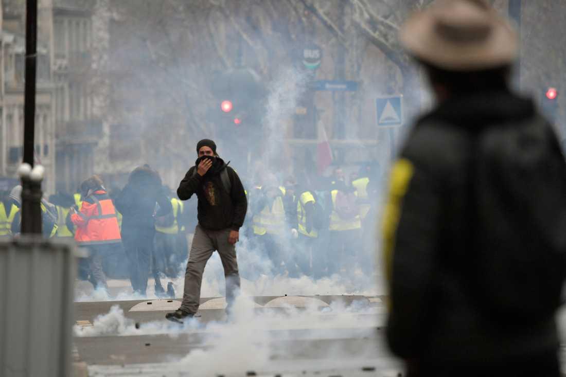 Oroligheterna i Paris är de värsta sedan studentrevolten 1968