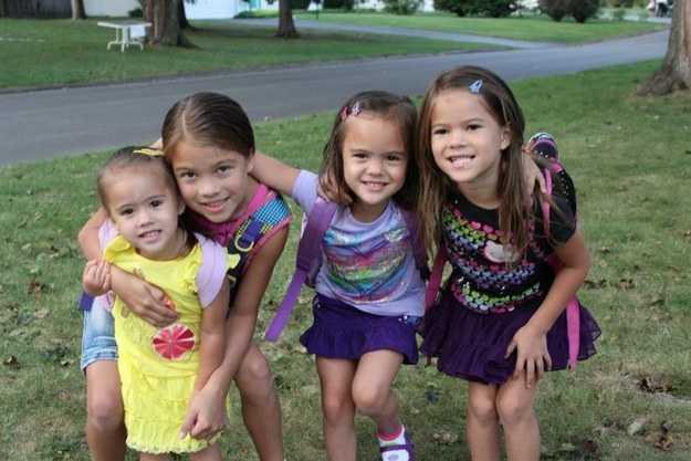 Elisabeths fyra döttrar Lily, Ella, Samona och Tara, som är i åldrarna 5 till 12. Foto: youcaring.com