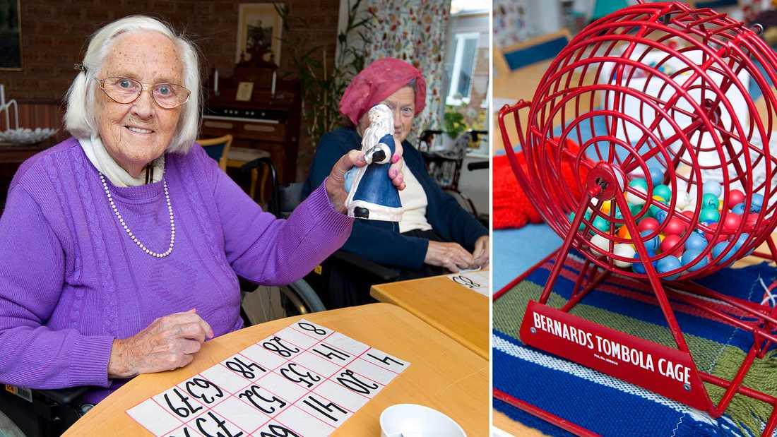"""""""Varför skulle man inte få åka raggarbil, gå på match eller gå ut och äta, bara för att man är gammal och kanske sitter i rullstol?"""" undrar Anki. Bingo är en av alla aktiviteter hon hittar på."""