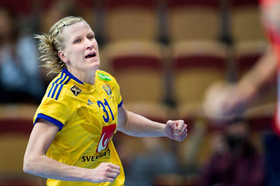 Anna-Maria Johansson Ålder: 32. Position: Högernia. Klubb: Skövde.