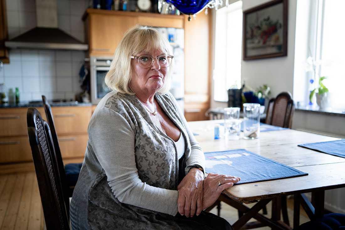 Berit Qwint, 70, är pensionär och har aldrig dömts för något brott.