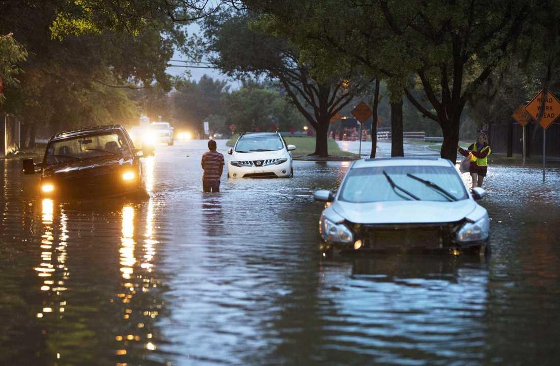 Houston har drabbats kraftigt av orkanen Harvey.