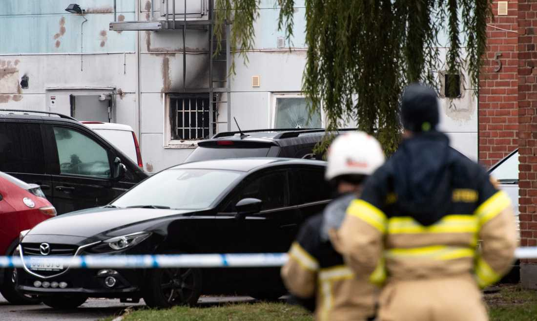 Räddningstjänsten på plats i Östra hamnen i Malmö.