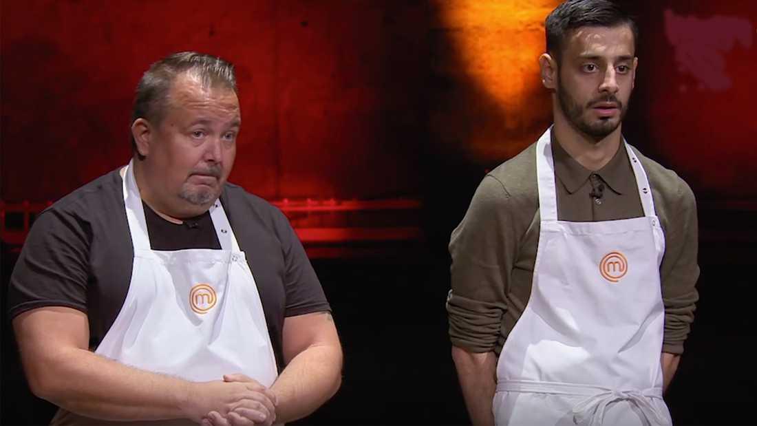 Sista finalplatsen såg ut att stå mellan Niclas Tuomela (till vänster) och Reza Jafari - men det slutade med att juryn skickade bägge vidare från slutkvalet.